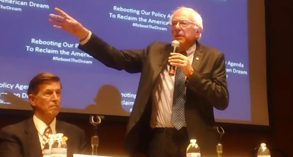 Watch Bernie Sanders clash with a gun control activist who thinks he sounds like the NRA