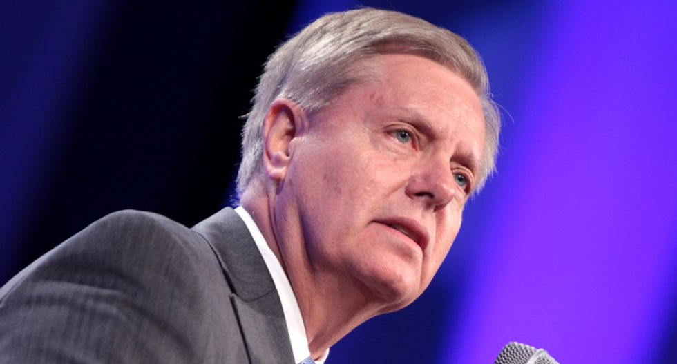 Internet brutally schools Lindsey Graham for whining 'hearsay' can't be used in Trump impeachment hearings