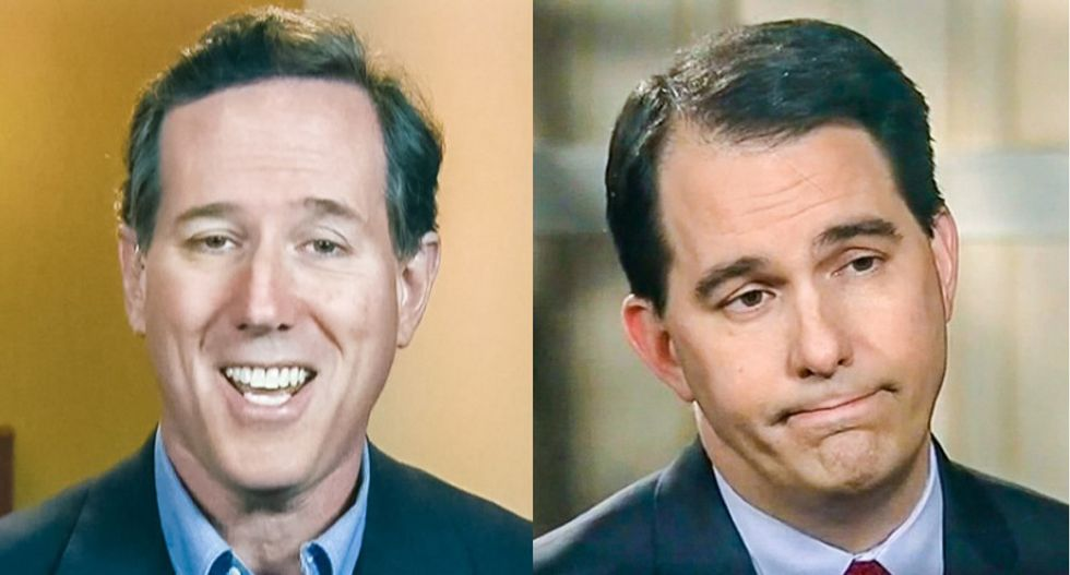 'Spouses matter': Rick Santorum warns voters Scott Walker's wife may make him soft on gays