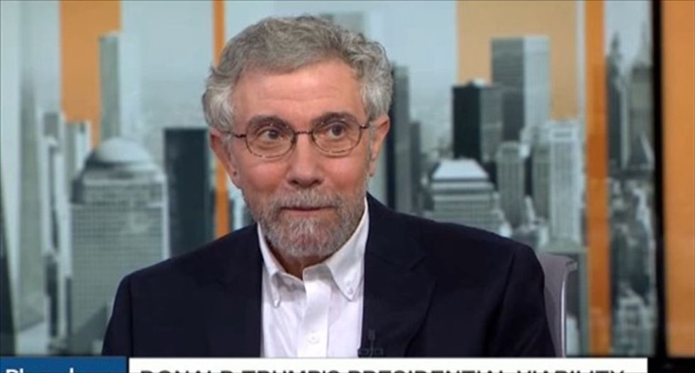 Paul Krugman nails why GOPers won't turn on Trump -- and it's not over fear of the president's wrath