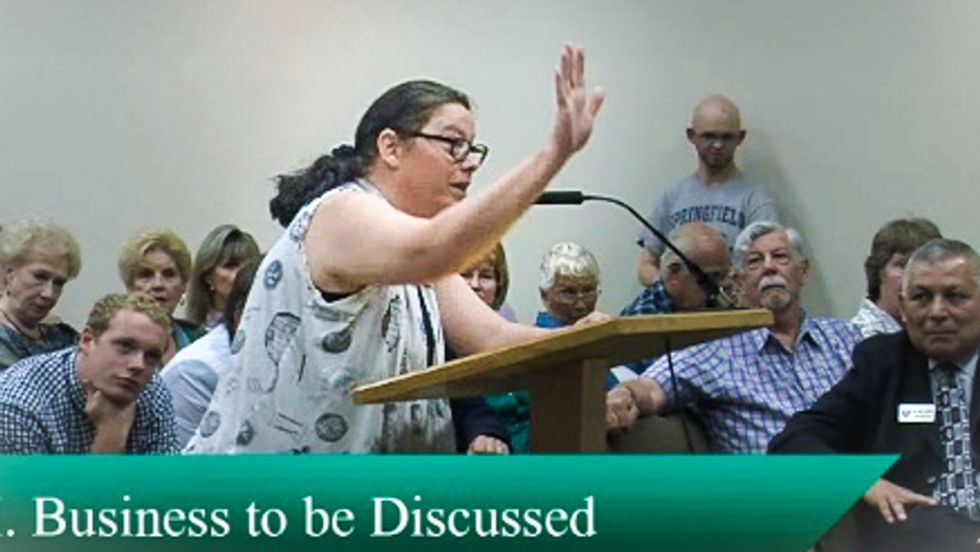 Tolerance wins in Texas! Watch Christians storm county meeting to censor LGBT books -- and fail