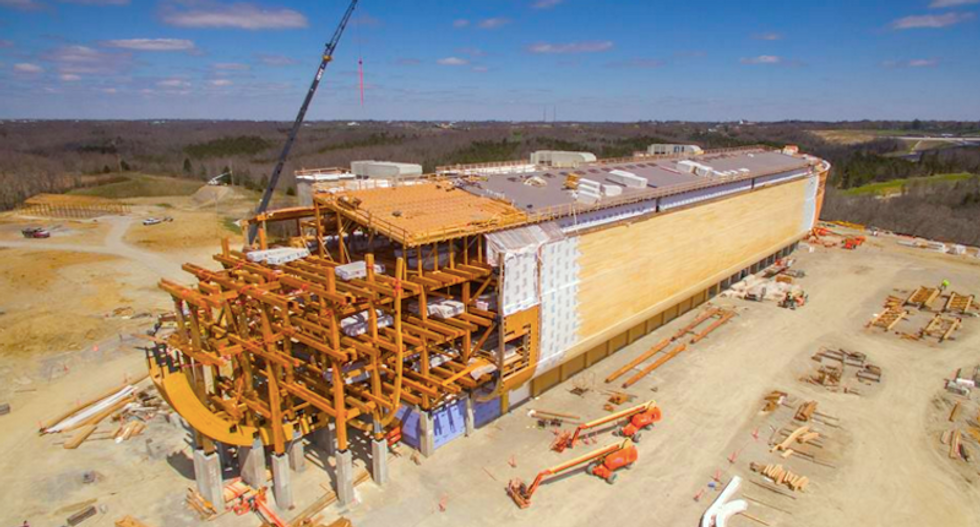 SNEAK PEEK: Ken Ham thinks this fake dinosaur on Noah's Ark will convince you to 'trust God's word'