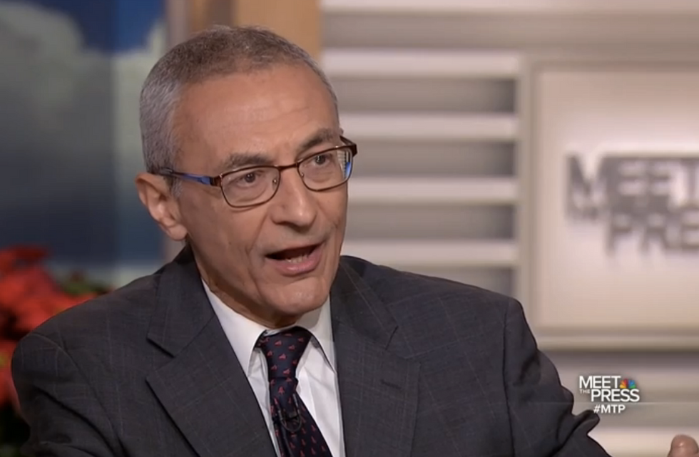 John Podesta gets sweet revenge on Roger Stone -- and declares it's his 'time in the barrel headed over Niagara Falls'