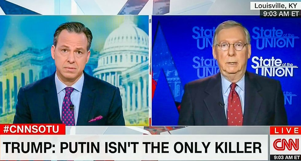 Mitch McConnell on Trump's Putin praise: 'I'm not going to critique every utterance of the president'