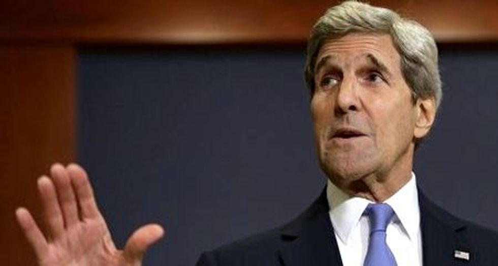 Secretary of State John Kerry used negotiations to free Iran hostages --  not bluster and prayer