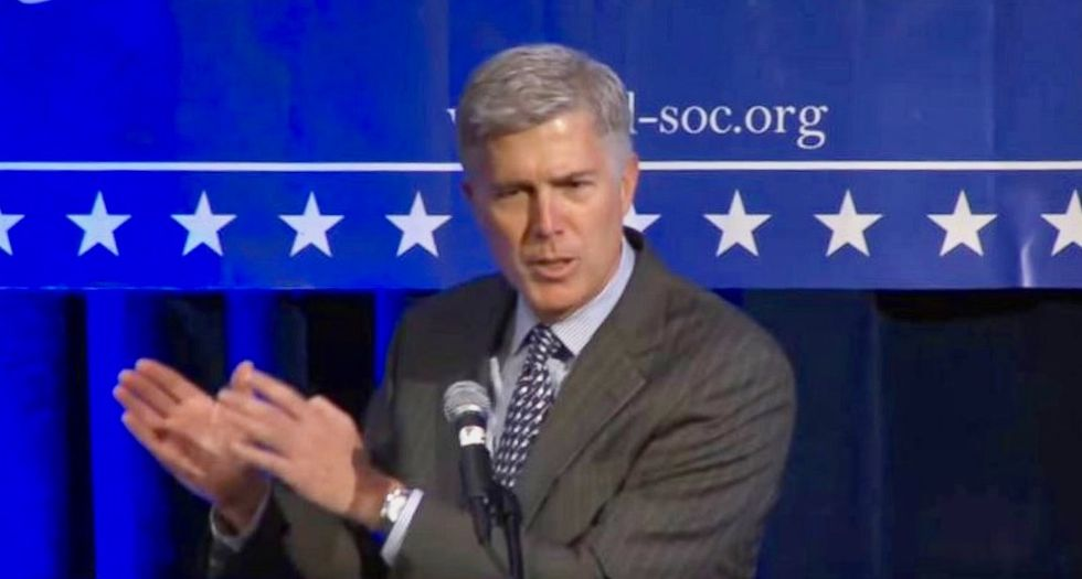 Justice Gorsuch mocked for claim that making it illegal to fire LGBTQ people could cause 'massive social upheaval'