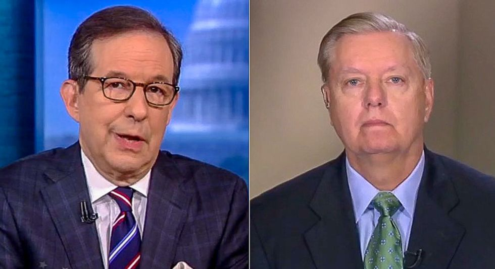 Chris Wallace forces Lindsey Graham to watch old clips of himself calling for Clinton's impeachment