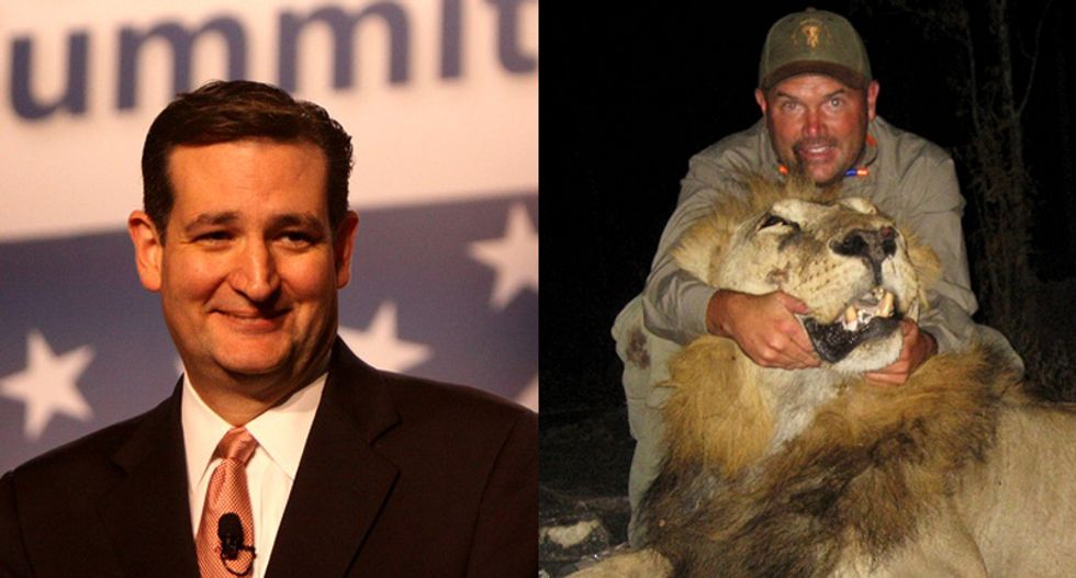 $10 million contributor to Ted Cruz Super PAC enjoys killing lions and other trophy animals for fun