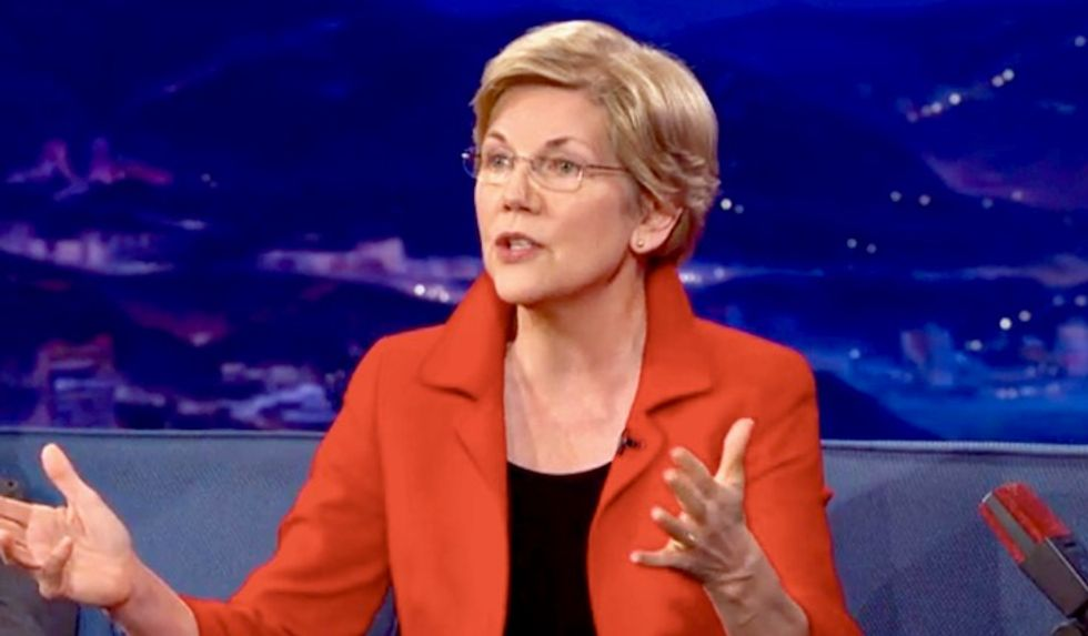 Elizabeth Warren: Donald Trump 'may not even be a free person' by the 2020 election