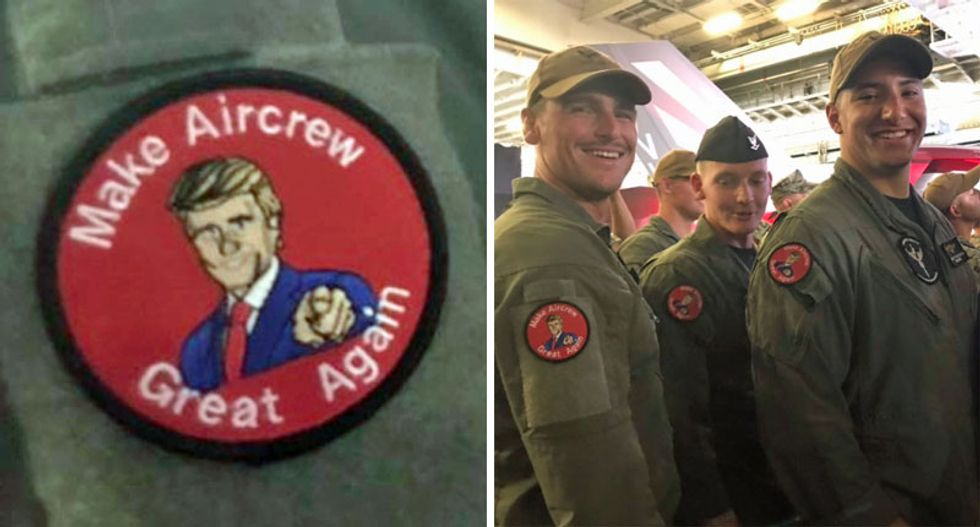 Active duty troops wore Trump-like patches on their uniforms during his speech: report