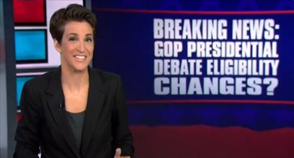 'This is nuts': Rachel Maddow accuses Fox of breaking its own entry rules for GOP debate