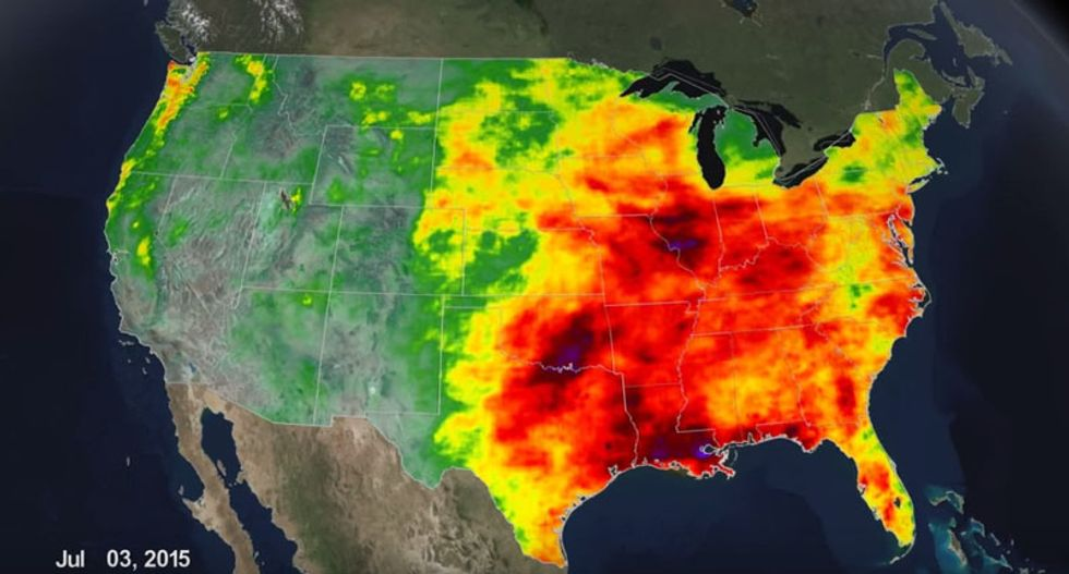 WATCH: All of 2015's rainfall for the US in 14 seconds