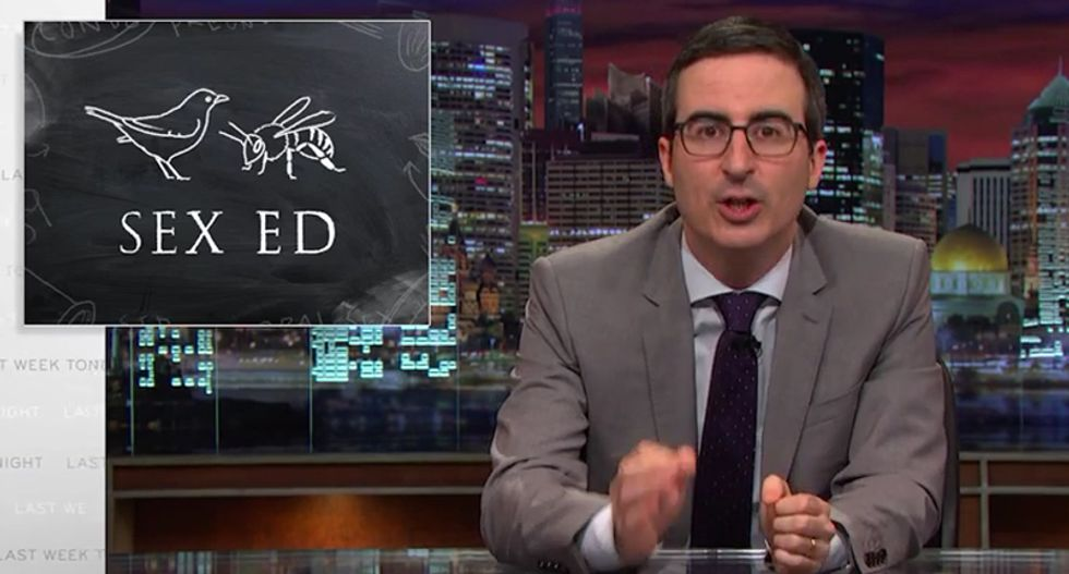John Oliver hammers 'crazy' abstinence-only sex ed programs that tell kids sex is dirty and dangerous
