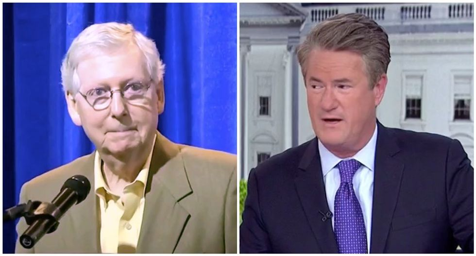 'He thinks it's cute': MSNBC's Morning Joe destroys 'smug' Mitch McConnell for Supreme Court hypocrisy