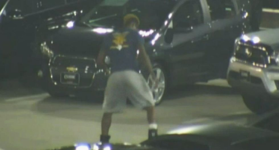 WATCH: Police release raw surveillance video of Christian Taylor before shooting at car lot