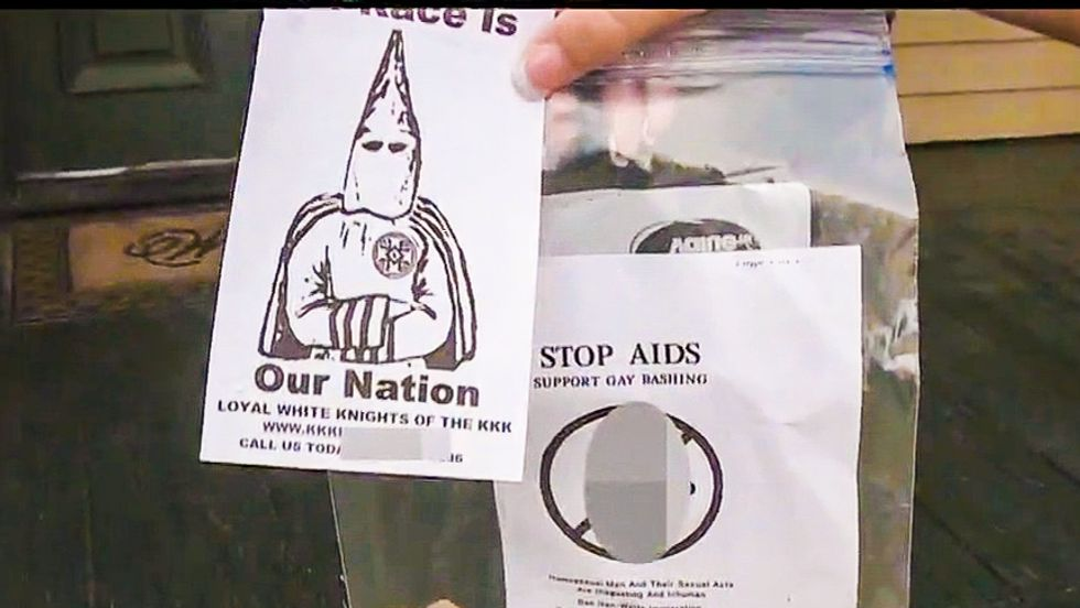 KKK fliers call for violence against gays to 'stop AIDS' during Louisiana Klan recruiting drive