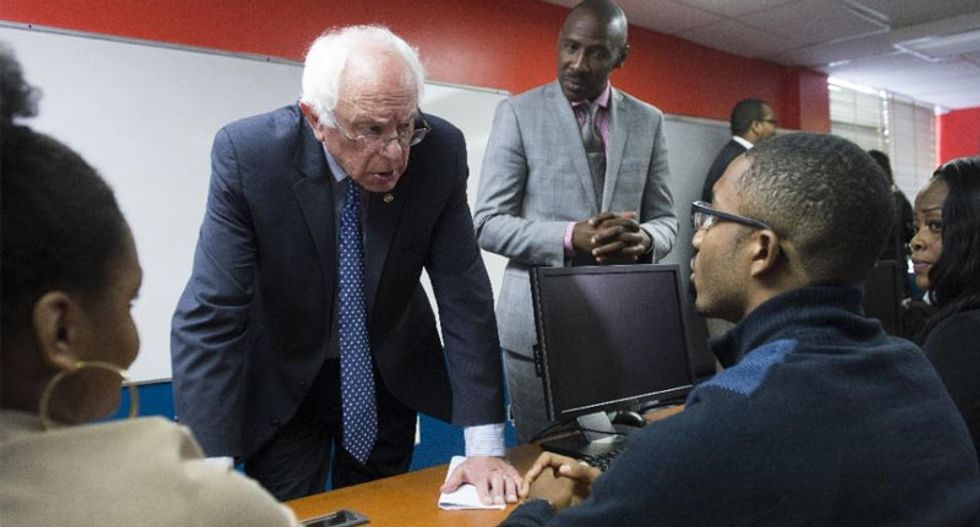 Odd couple: Bernie Sanders and Donald Trump lead in early-voting US state
