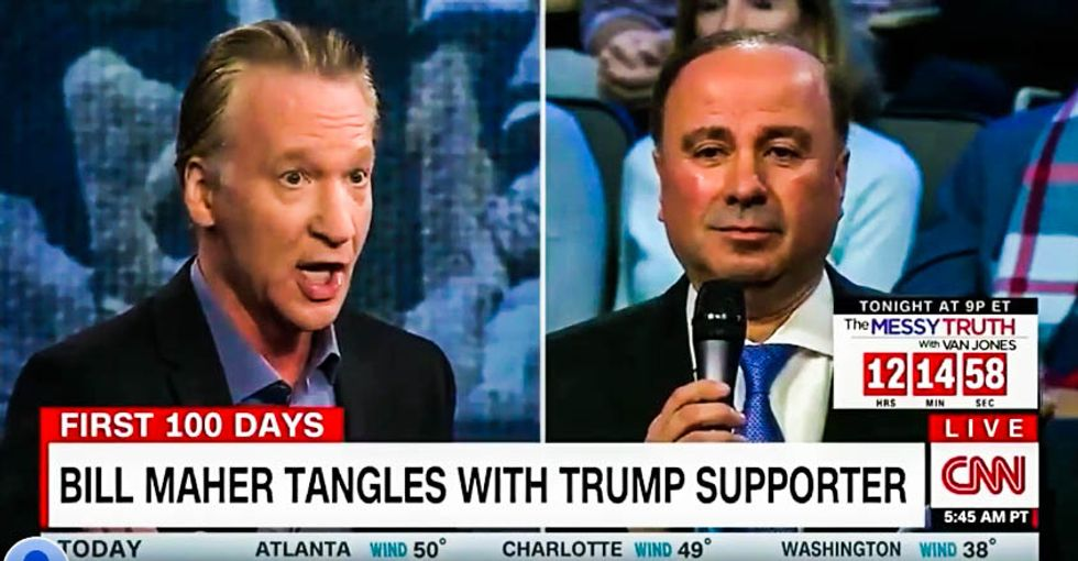'It's a giant con!': Bill Maher unloads on Trump supporter who asks him to give Trump a chance