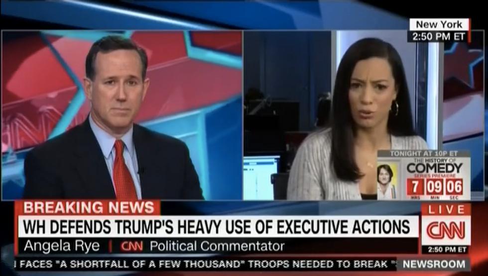 Angela Rye smacks down Rick Santorum after he lies about Obama ignoring black-on-white crime