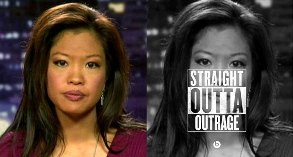 Straight outta Malkin: Disapproving woman unhappy Americans are now a bunch of moviegoing thugs