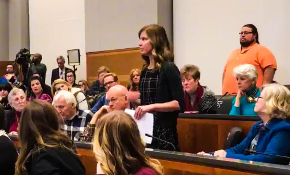 'The healthy pull up the sick': Christian woman offers perfect defense of Obamacare at GOP town hall