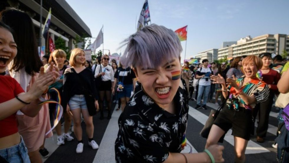 South Korea's pride parade marks 20 years in blaze of color -- and 70,000 attendees