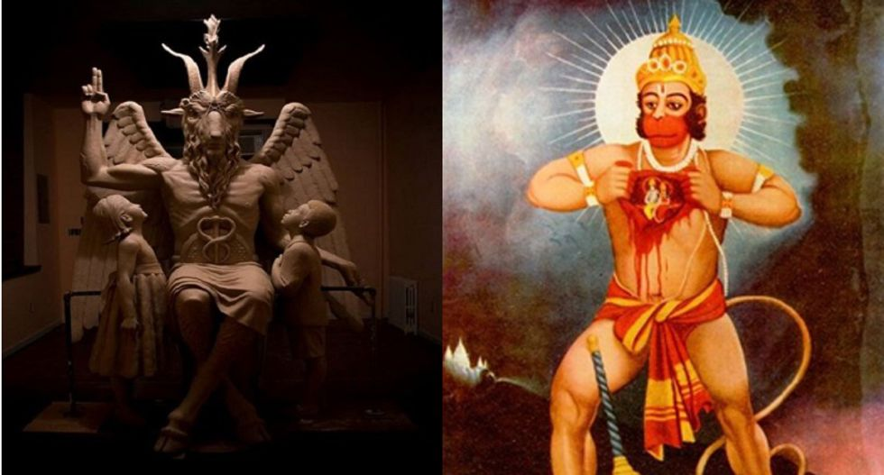 Satanic Temple to join Hindus asking to put up statue next to Ark. State Capitol Ten Commandments display
