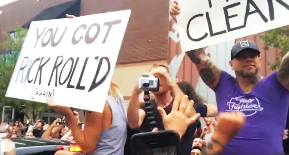 WATCH: Foo Fighters expertly troll Westboro protesters outside KC concert venue -- and it rocks