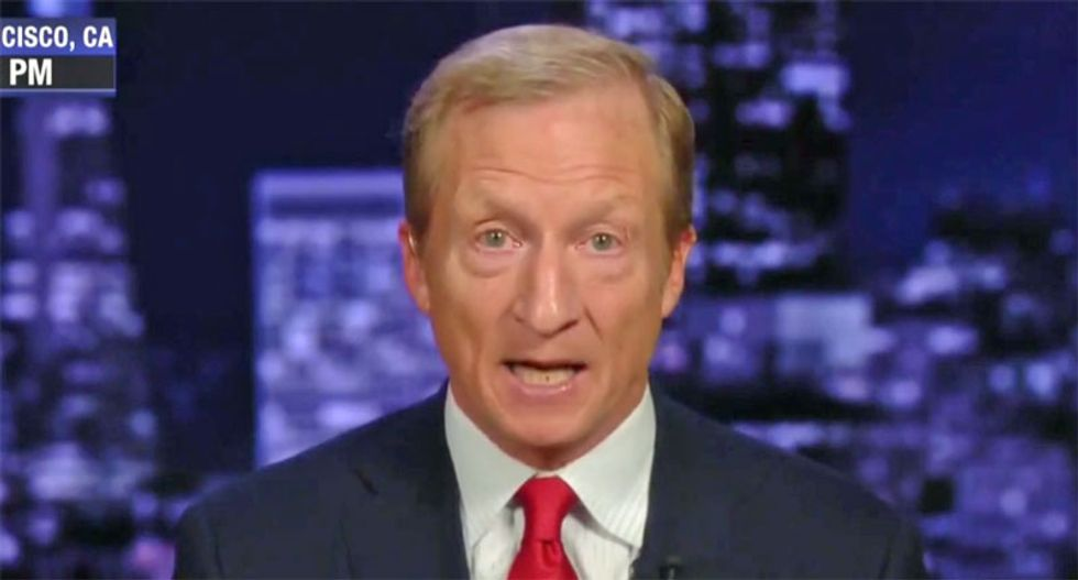 Trump is 'a panicked president' and 'his behavior is deteriorating': Impeachment leader Tom Steyer
