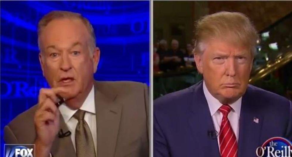 Trump defends Fox News host O'Reilly as 'good person'