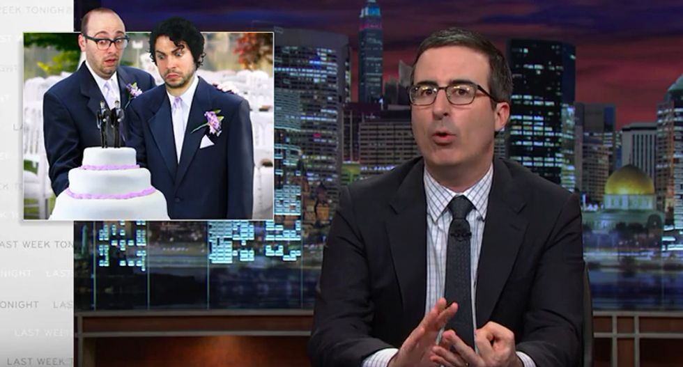John Oliver rips into anti-LGBT baker and urges Congress to pass national Equality Act