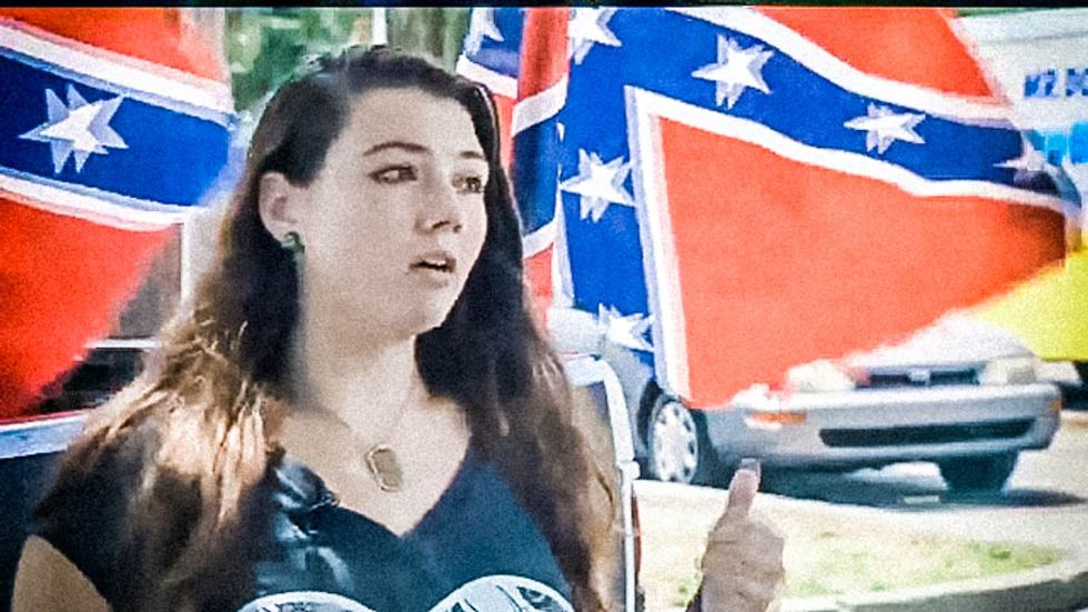 Florida principal sends girl home for giant Confederate flags -- and now he's the one apologizing