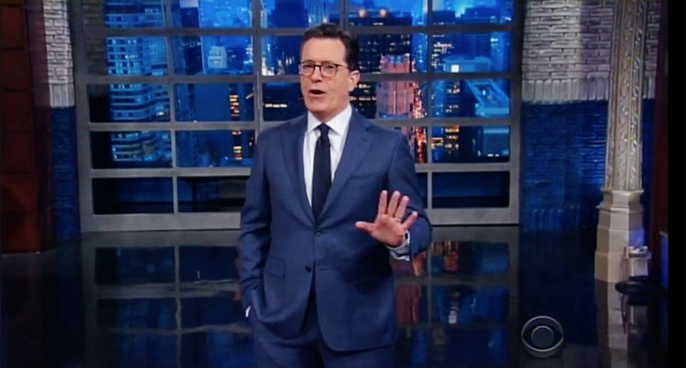 'This is a gun meeting with a Russian bullet': Colbert takes aim at Donald Jr. for playing dumb in Russian meeting