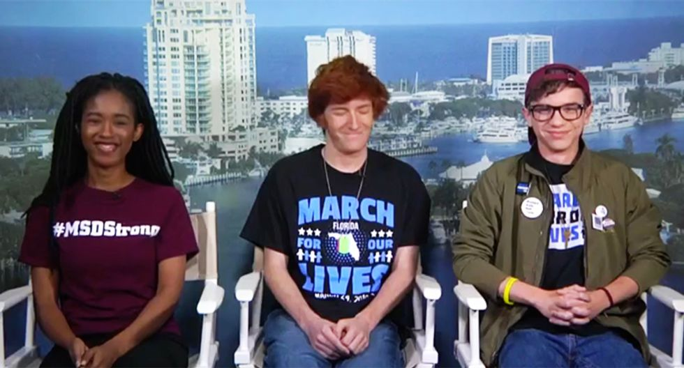 WATCH: Parkland students react in the best possible way to news the NRA is sending Ted Nugent after them