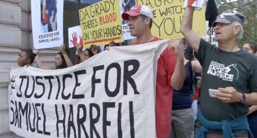 #BLM activists seek justice for Samuel Harrell -- killed by 'Beat Up Squad' guards at New York prison