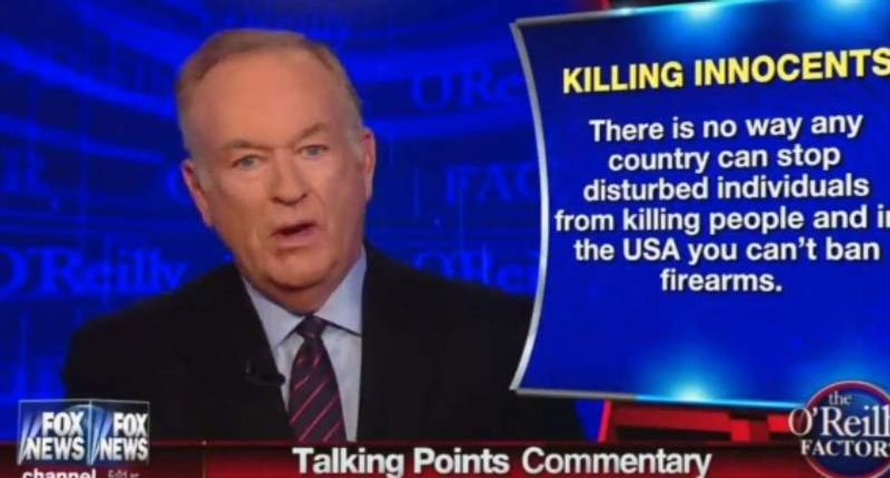 Bill O'Reilly blames rise of 'nihilism' and 'secular-progressive' attitudes for Virginia journalists' deaths