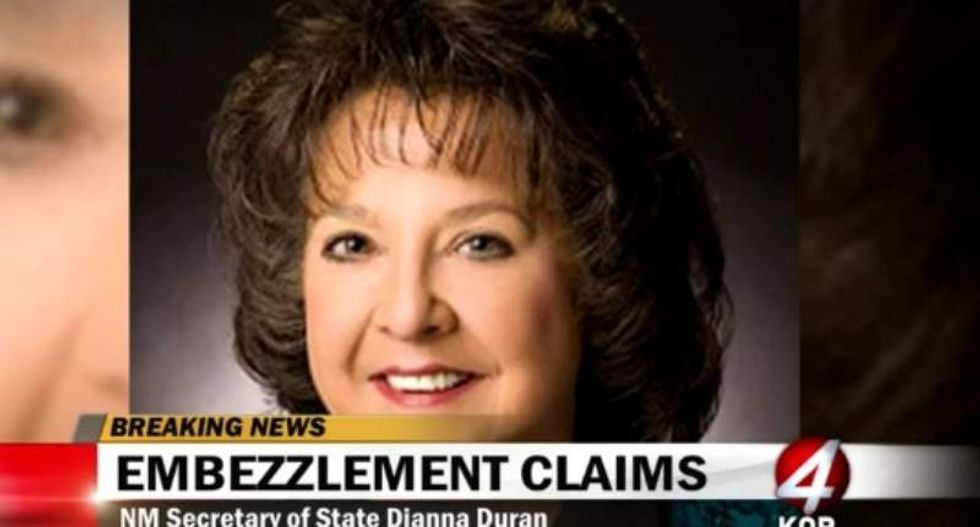 New Mexico's Republican secretary of state charged with embezzlement and fraud