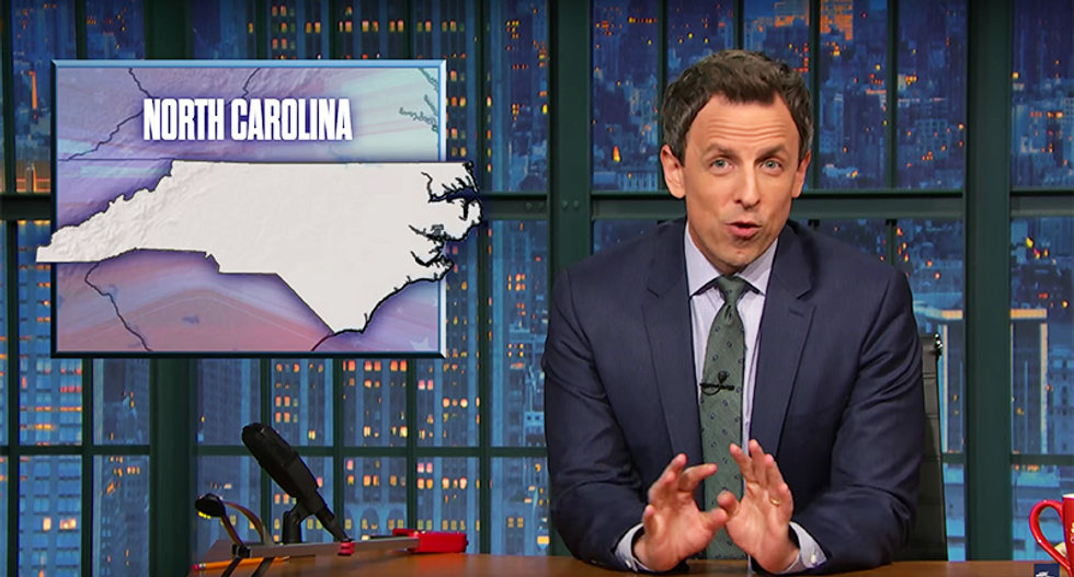 Seth Meyers explains how the NC Republican power grab is possible: They diluted African-American political power