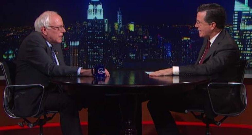 Bernie Sanders set to appear during Week 2 of Stephen Colbert's 'Late Show'