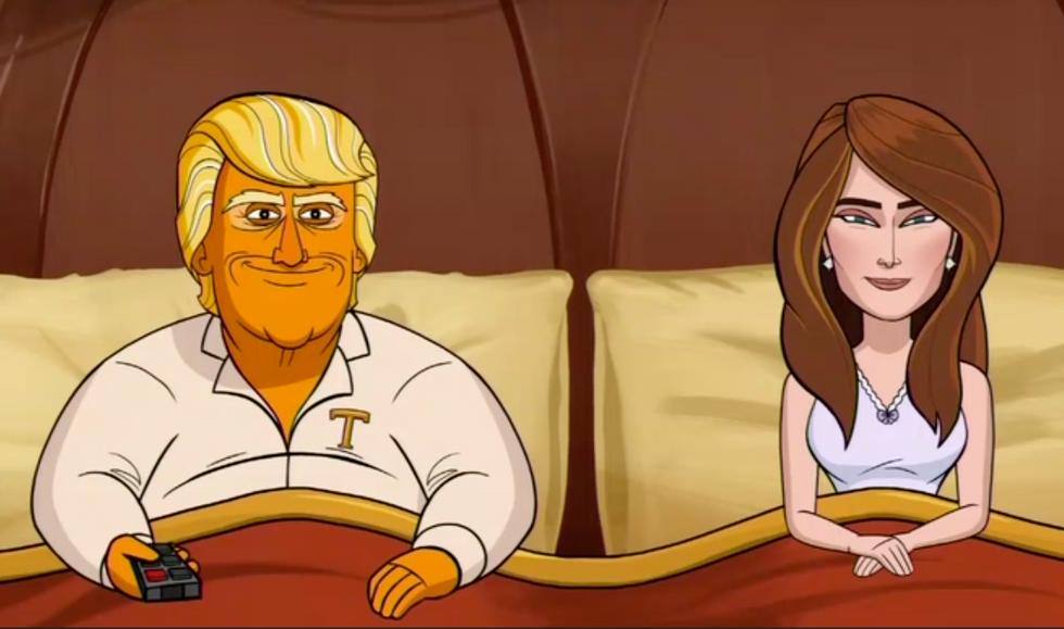 Colbert's cartoon President Trump raises eyebrows: 'How do grown adults still worship Jesus?'