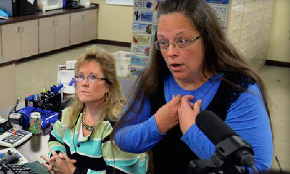 Kim Davis: Gays tried to shove SCOTUS ruling 'down my throat and make me eat it for my dinner'