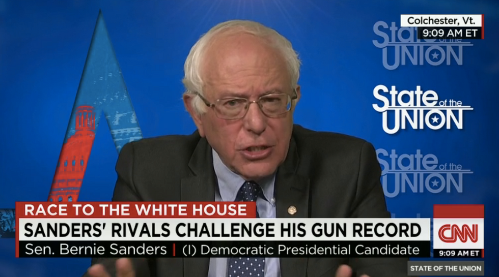 Bernie Sanders reminds Jake Tapper that he has a 'D-minus' rating from the NRA