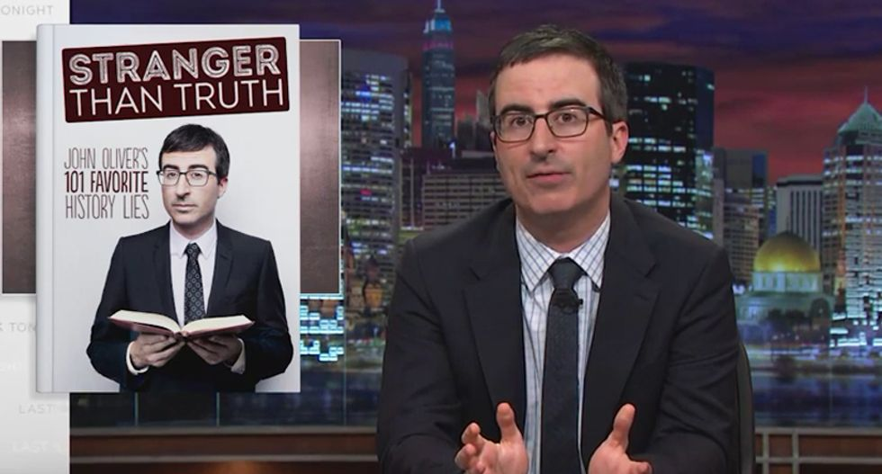 WATCH: John Oliver mocks the 'bullsh*t' of Dr. Oz with his own book of  '101 Favorite History Lies'