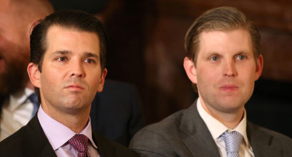 Don Jr and Eric Trump faceplant after trying to mock reporter's gun tweet: 'You and your family are laughingstocks'