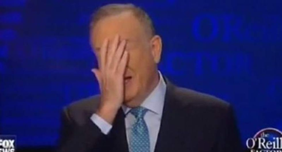 Bill O'Reilly just spurted out a big fat lie about never defending Ailes from sex harassment claims