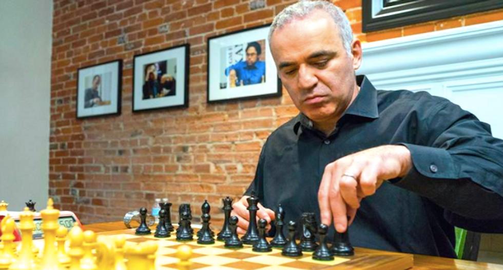 Kasparov notches first win in brief return to chess