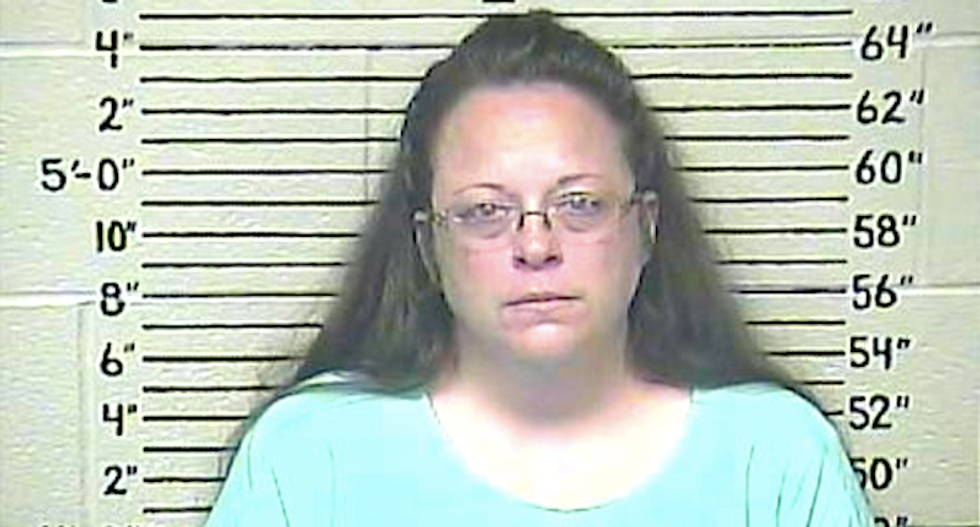 Kim Davis released from jail after deputy clerks issue marriage licenses to same-sex couples