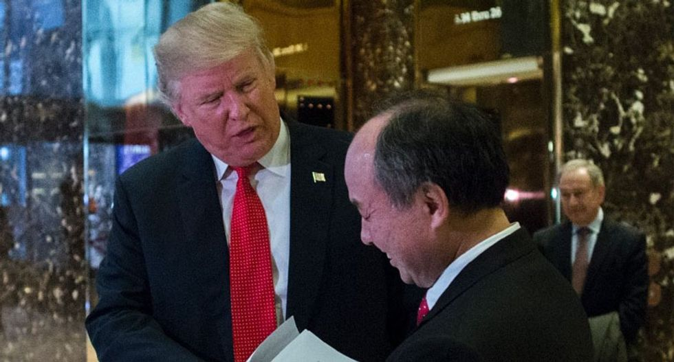 SoftBank delivers first $1 billion investment of Trump pledge