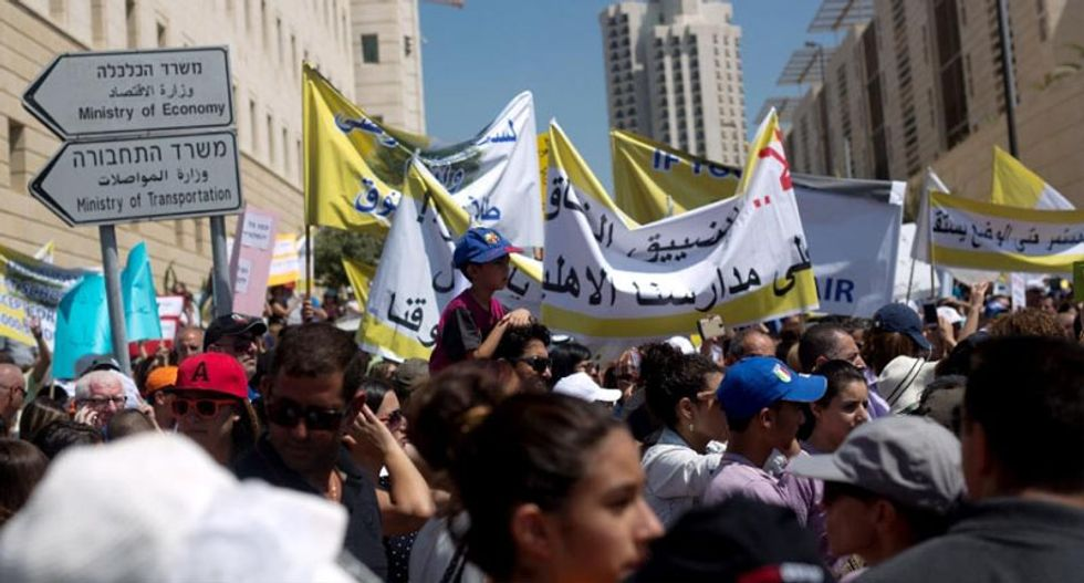 Israel's Arab schools strike in support of Christians