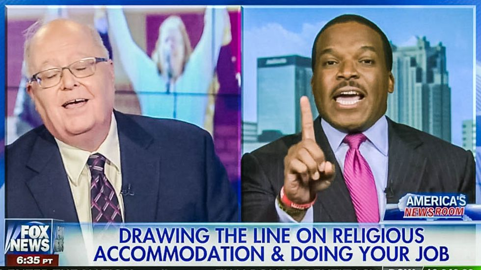 Watch what happens when a Fox guest tells a black man that Kim Davis is like Martin Luther King, Jr.